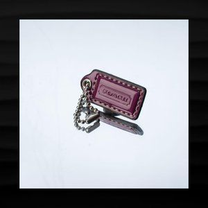1.5″ Small COACH PURPLE PATENT LEATHER KEY FOB